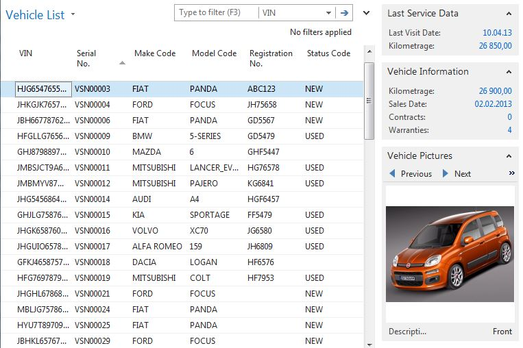 Dealer Management System For Vehicle Sales And Aftersales