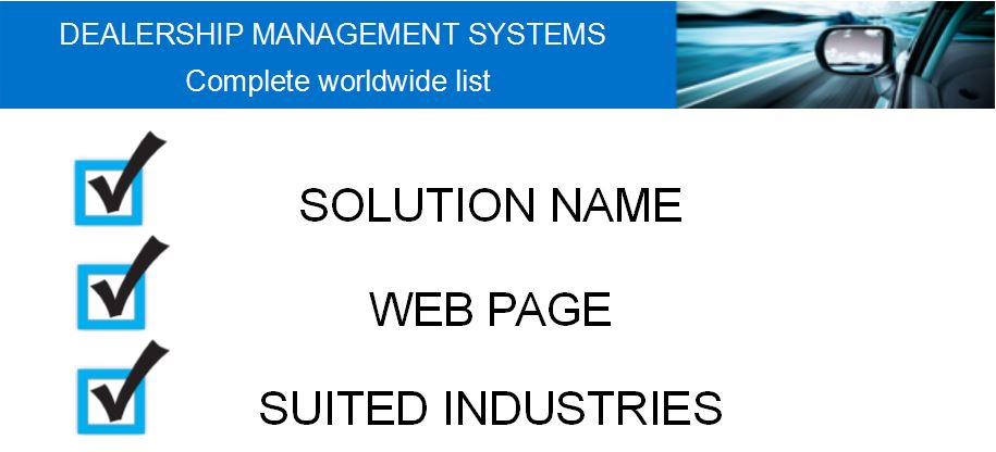 Top Dms And Fleet Maintenance Software S In The World